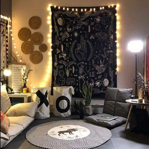 Necromancer Witch Halloween Wall Tapestry